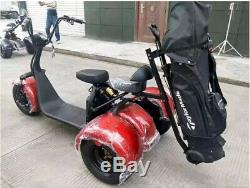 2000W 60V 20AH GOLF Cart Electric Mobility Scooter 3 Wheel Trike with Bag Holder