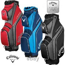 2020 Callaway X-Series Org Cart / Trolley Golf Bag 14 way divider 3 Colours