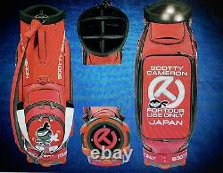 2020 Scotty Cameron Tour Only Cart Bag Wasabi Red BAG ONLY Sold Out Circle T