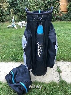 2020 Titleist StaDry 14 Waterproof Golf Cart Bag, Rainhood & Strap, 1 broken zip