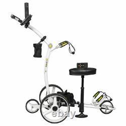 2021 WHITE Bat Caddy X4R Remote Control Electric Golf Bag Cart/Trolley + BONUS