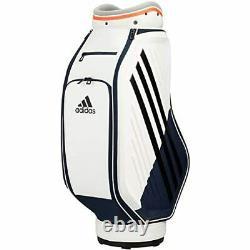 Adidas Golf Men's Cart Caddy Bag 9.5 x 47 inch 3.9kg White Orange GUW08