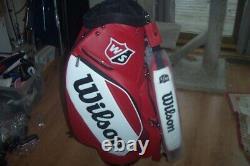 BRAND NEW 2020 Wilson Staff PGA Pro Tour cart bag Red / White