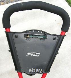 Bag Boy EXPRESS 3-Wheel RED Push / Pull Golf Cart with Air Pump Very Good