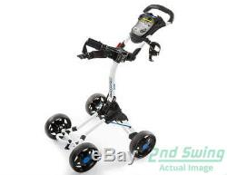 Brand New 10.0 Bag Boy Quad XL Jr. Push and Pull Cart White Works for Adults