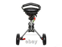 Brand New Fast Fold 9.0 3 Wheel Golf Push and Pull Cart Silver. FREE SHIPPING