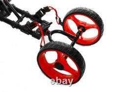 Brand New Fast Fold 9.0 4 Wheel Golf Push and Pull Cart Black/Red FREE SHIPPING