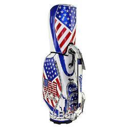 Brand New Guiote TEAM USA Golf staff bag caddie cart bag comes with Rainhood