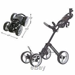 Caddytek V8 SuperLite 4-Wheel Push Pull Cart Dark Gray Bag Carrier- Fast Ship