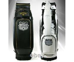 Callaway 2020 CG Matrix Men's Caddie Cart Bag 9.5in 10 lbs Free EMS PU / White
