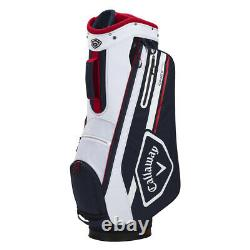 Callaway CHEV 14 Cart Golf Bag Navy/White/Red New 2021
