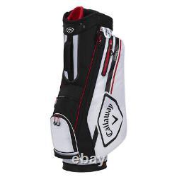 Callaway CHEV 14 Cart Golf Bag White/Black/Fire New 2021