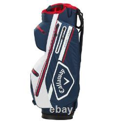 Callaway CHEV 14 DRY Golf Cart Bag Navy/White/Red NEW! 2021