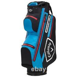 Callaway CHEV 14 DRY Waterproof Golf Cart Bag Black/Cyan/Red NEW! 2021