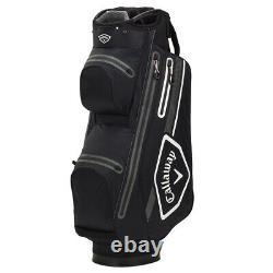 Callaway CHEV 14 DRY Waterproof Golf Cart Bag Black/White/Charcoal NEW! 2021