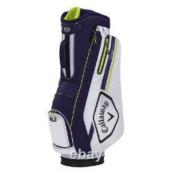 Callaway Chev 14 Cart Golf Bag White/Purple/Floral Yellow New 2021