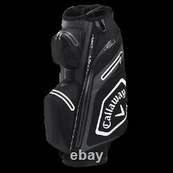 Callaway Chev DRY 14 Golf Trolley/Cart Bag Black/Charcoal/White NEW! 2020