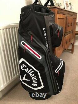 Callaway Chev Dry 14 Waterproof Cart Bag Black/charcoal New With Tags