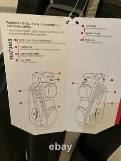 Callaway Chev Dry 14 Way / Waterproof Golf Cart/Trolley Bag White/Black/Green
