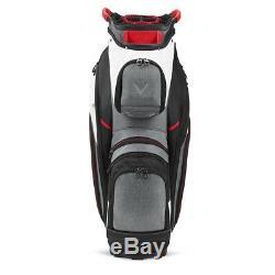 Callaway Golf Org 14 Cart Bag White-Charcoal New 2020