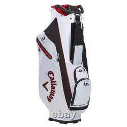 Callaway ORG 7 Cart Golf Bag White/Black/Red New 2021