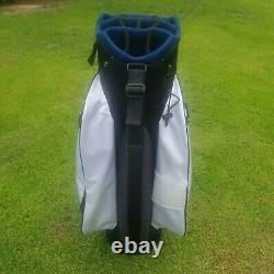 Callaway Org 14 Cart Golf Bag White/Navy/Blue Pre-Owned 2018 Good Condition