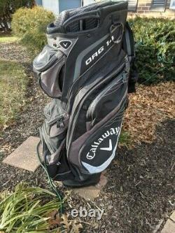 Callaway Org 14 Golf Cart Bag Black + Grey + White with Rain Cover