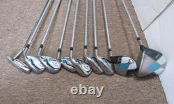 Callaway Solaire Women's Golf Club Set Driver Wood Iron Putter with Cart Bag RH