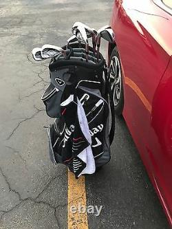 Callaway XR Iron Set 5W-PW, AW, SW with cart bag