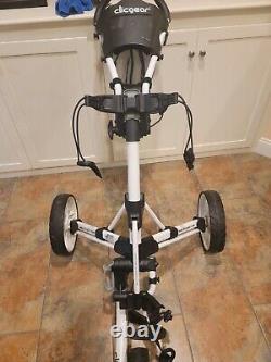 Clicgear 3.5+ Golf Bag Push/Pull Cart in White/Black