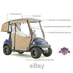Club Car Precedent Golf Cart PRO-TOURING Sunbrella Track Enclosure Black