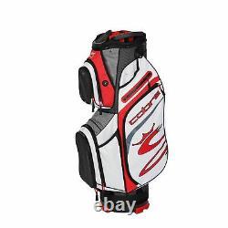 Cobra 90940303 Golf 2020 Ultralight Cart Bag Black-High Risk Red-Wht