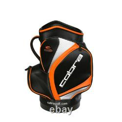 Cobra Golf 2019 Den Caddy Miniature Staff Bag with 2 Zippered Pockets in Black