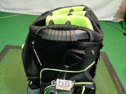 Cobra Lightweight Cart Bag Black / Grey / Yellow 14-Way and 9 Pockets