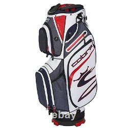 Cobra Ultralight Golf Cart Bag (5.3lbs) 14-WAY Top Navy/Red/White NEW! 2020