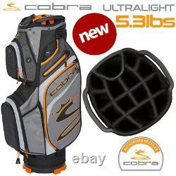Cobra Ultralight Golf Cart Bag (5.3lbs) 14-WAY Top Quiet Shade NEW! 2021