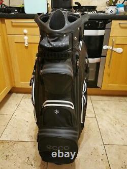 ECCO Lightweight Waterproof Black Golf bag / 14-Way / Rainhood/ A1 Condition