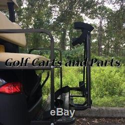 GOLF CART GOLF BAG ATTACHMENT With GRAB BAR COMBO FOR CARTS WITH REAR SEATS