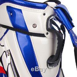 Guiote USA Golf staff bag Captain America caddie cart bag comes with Rainhood