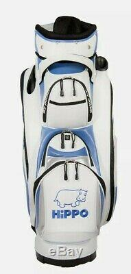 Hippo golf 14 WAY Golf Cart/Trolley Bag Waterproof Material White and blue