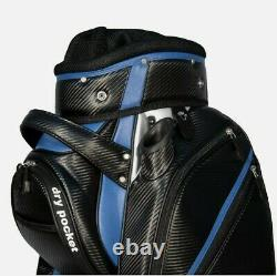 Hippo golf 14 WAY Golf Cart/Trolley Bag Waterproof Material black and blue