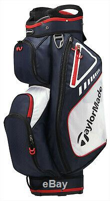 In Stock 2019 TaylorMade Golf Select Cart Bag 14-Way Navy/Red/White 2019 5 Lbs