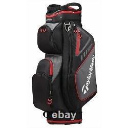 In Stock TaylorMade Golf Select Cart Bag 14-Way (Black/Red) 2019 Lightweight