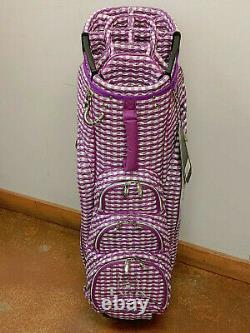 Lynx Checked Wave Ladies Golf Cart Bag 14-Way (Purple)
