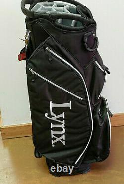 Lynx Superlight Golf Cart Bag 15-Way (Black, White)