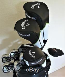 Mens Callaway Complete Golf Set Driver, Wood, Hybrid, Irons Putter Cart Bag Reg