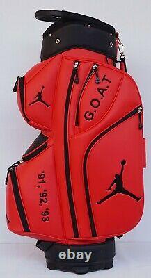 Michael Jordan Custom Golf Cart Bag Fully Customized Air Jordan Jumpman 23