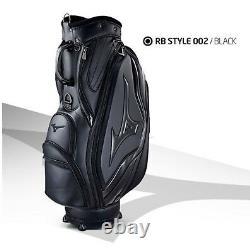 Mizuno 2019 RB Style 002 Men Cart Caddie Bag 9.5 8.5lb 5Way PU Enamel-Black/EMS