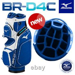 Mizuno BR-D4C Golf Cart/Trolley Bag Full 14-WAY Dividers Staff/White NEW! 2020