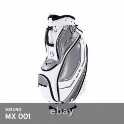 Mizuno MX 001 Men's Caddie Bag Cart 9.5In 5-Way Enamel PU 9 lbs EMS White/Silver